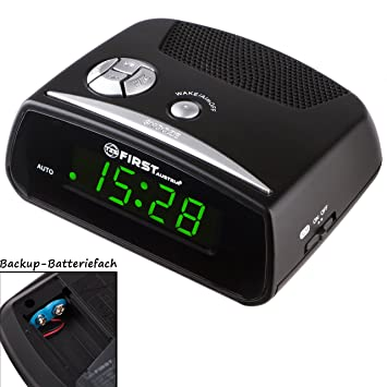 Despertador digital con grandes cifras y pantalla LED | Posible función de batería de reserva |
