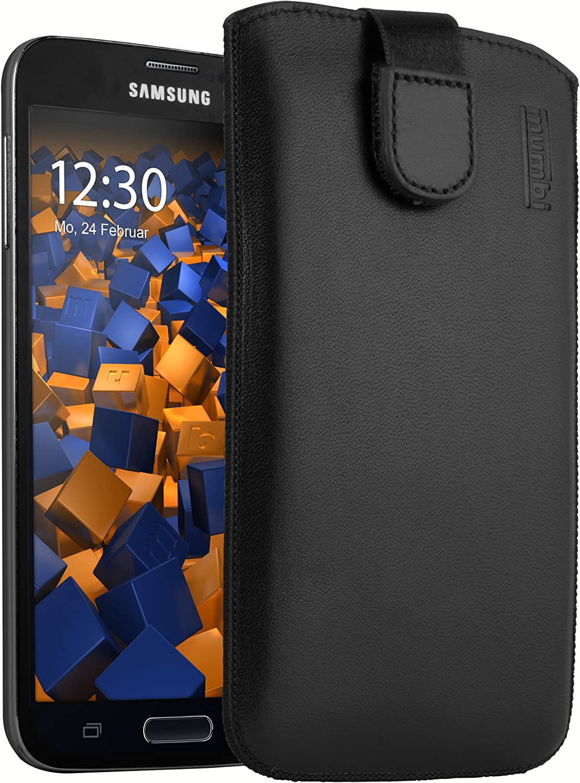 Mumbi Echt Ledertasche Kompatibel Mit Samsung Galaxy S5 Elektronik