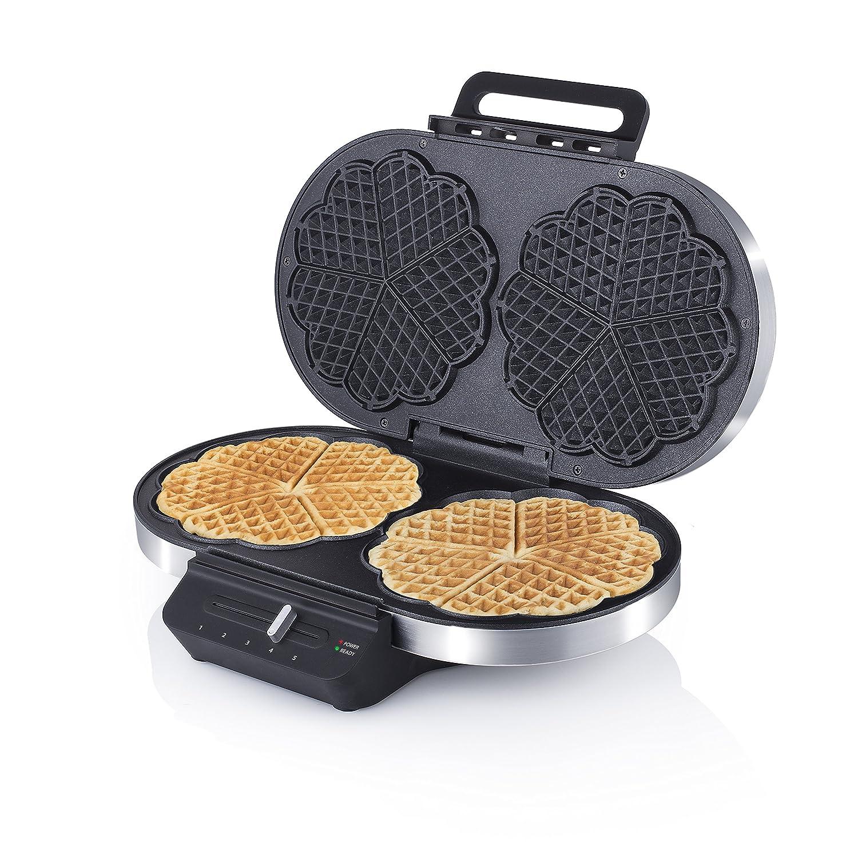 Princess 01.132394.01.001 Macchina Waffle Doppia in Acciaio Inox