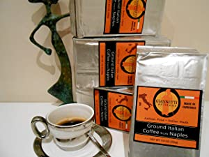 Giannetti Artisans Neapolitan Ground Espresso Coffee - ARTISAN MADE & WOOD OVEN ROASTED COFFEE BEANS (8.8 oz pack) - Imported