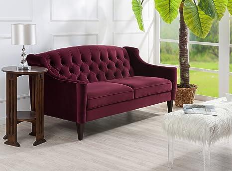 Amazon.com: Jennifer Taylor Home, tapizado sofá, terciopelo ...