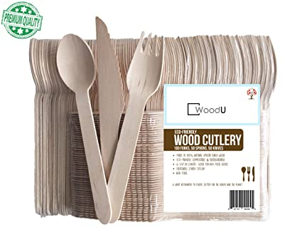 Wonderful Disposable Wooden Cutlery Utensils Set, Eco Friendly Biodegradable  Compostable Wood Utensil, Party Supplies