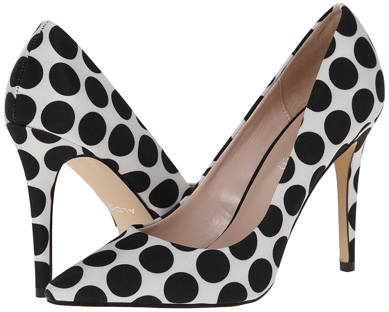 Aldo Women's Choewia Dress Pump, White/Black, 39 EU/8.5 B US: Buy Online at  Low Prices in India - Amazon.in
