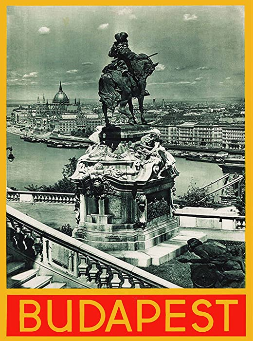 A SLICE IN TIME Budapest Hungary Hongrie Hungarian Black and White Europe European Vintage Travel Home Collectible Wall Decor Advertisement Art Poster Print. Measures 10 x 13.5 inches