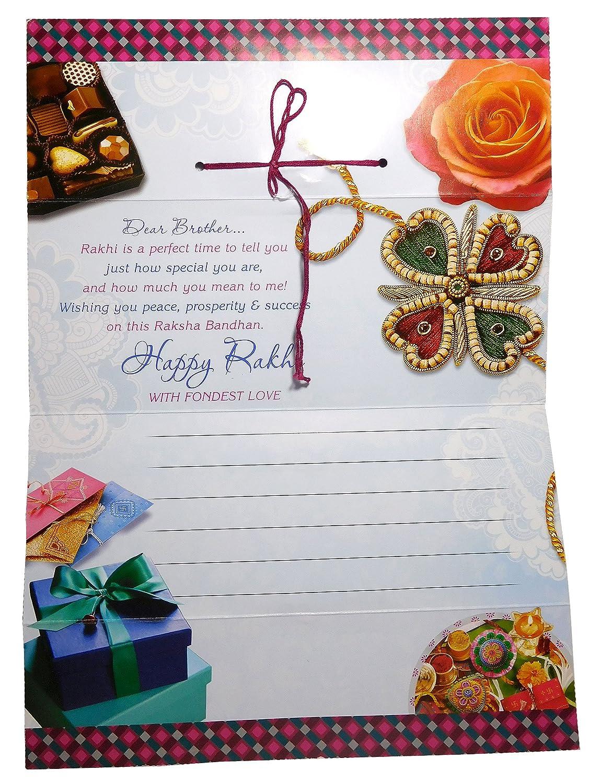 Buy Raksha Bandhan Rakhi For Bhaiya And Bhabhi With Rakhi Greeting