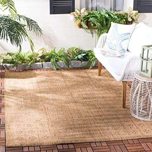 Safavieh Courtyard Collection CY6947-49 Gold and Natural Indoor/ Outdoor Area Rug 5'3″ x 7'7″