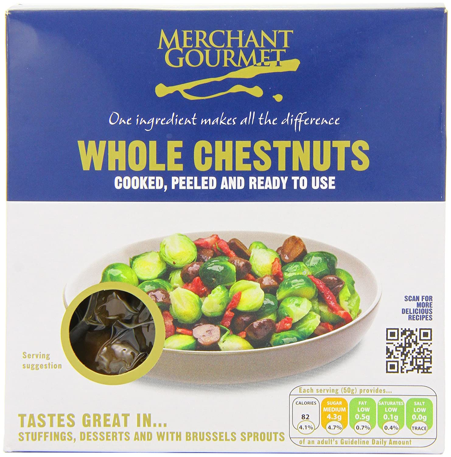 Merchant Gourmet Whole Chestnuts 200 g (Pack of 4): Amazon.co.uk ...