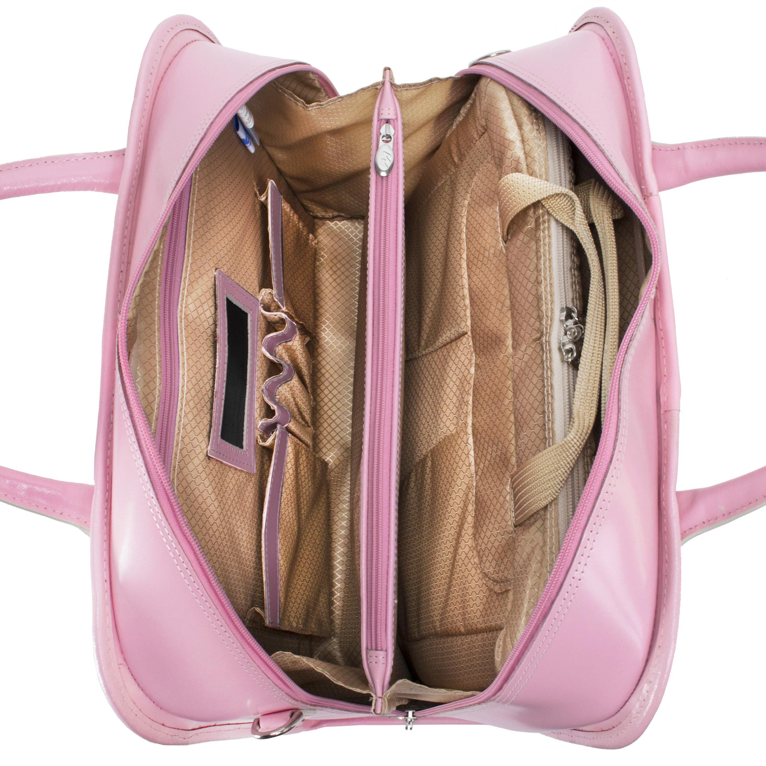McKleinUSA LAKEWOOD 96615 Black Leather Fly-Through Checkpoint-Friendly Detachable-Wheeled Ladies' Briefcase by McKleinUSA (Image #8)