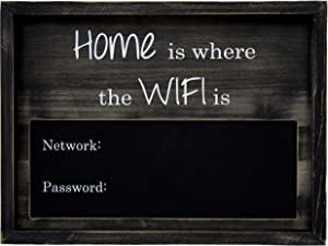 "Traverse Ridge | WiFi Chalkboard, Large | Rustic Wood 12"" x 16"" Sign 