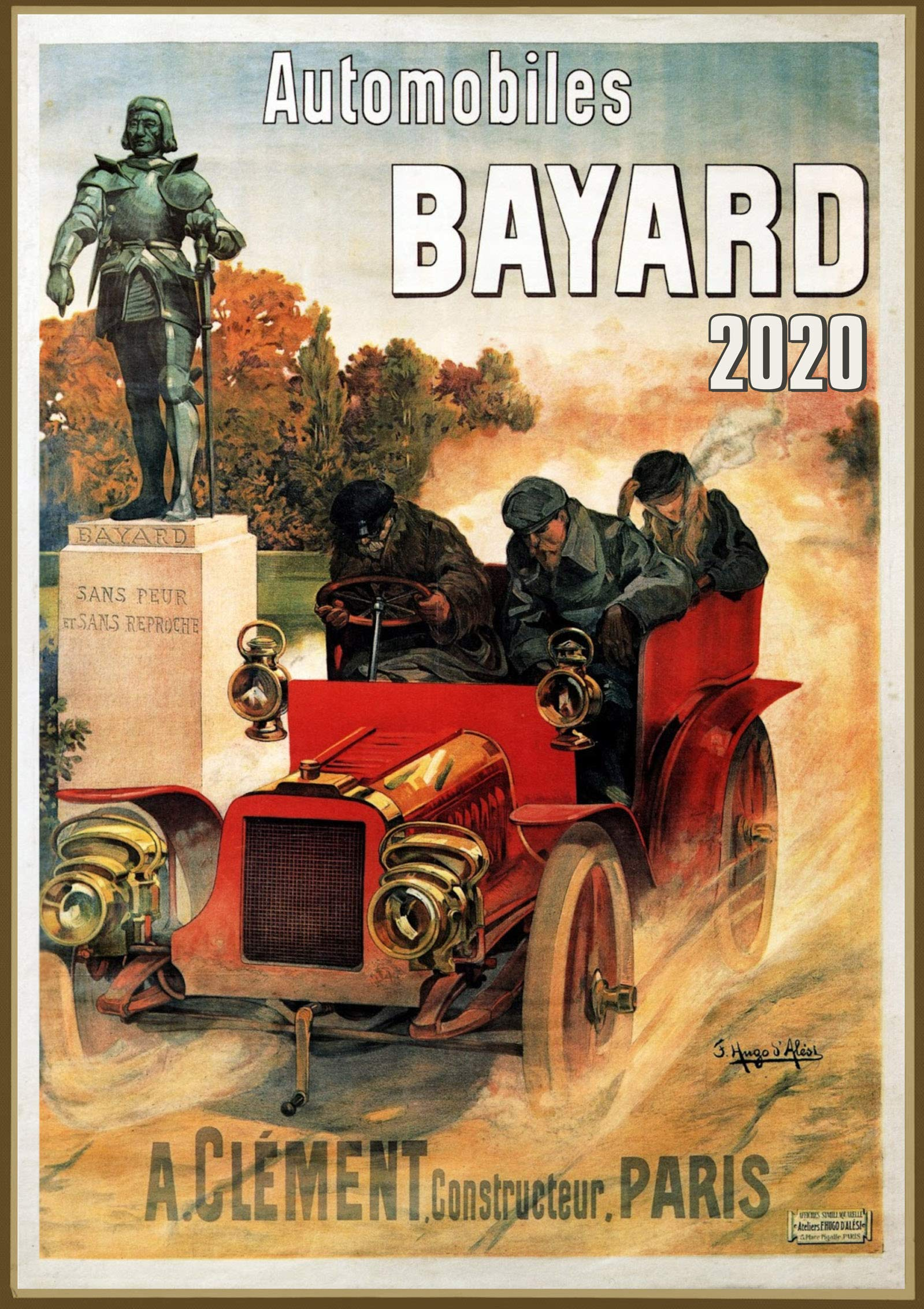 Wall Calendar 2020 12 Pages 8 X11 Automobile Cars Ads Vintage