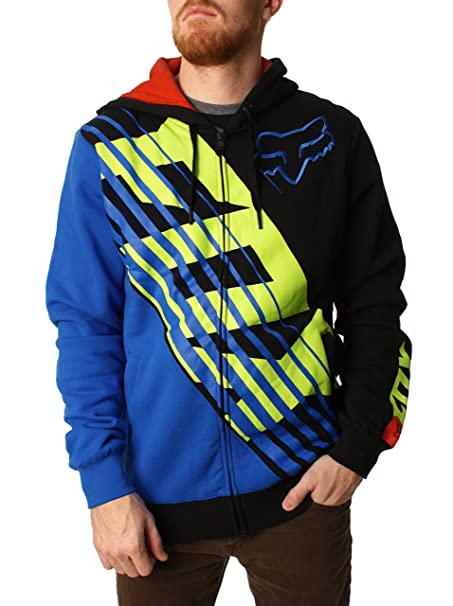 Fox Racing - Sudadera con capucha - Sudadera - Manga Larga - para hombre multicolor negro/azul small: Amazon.es: Coche y moto