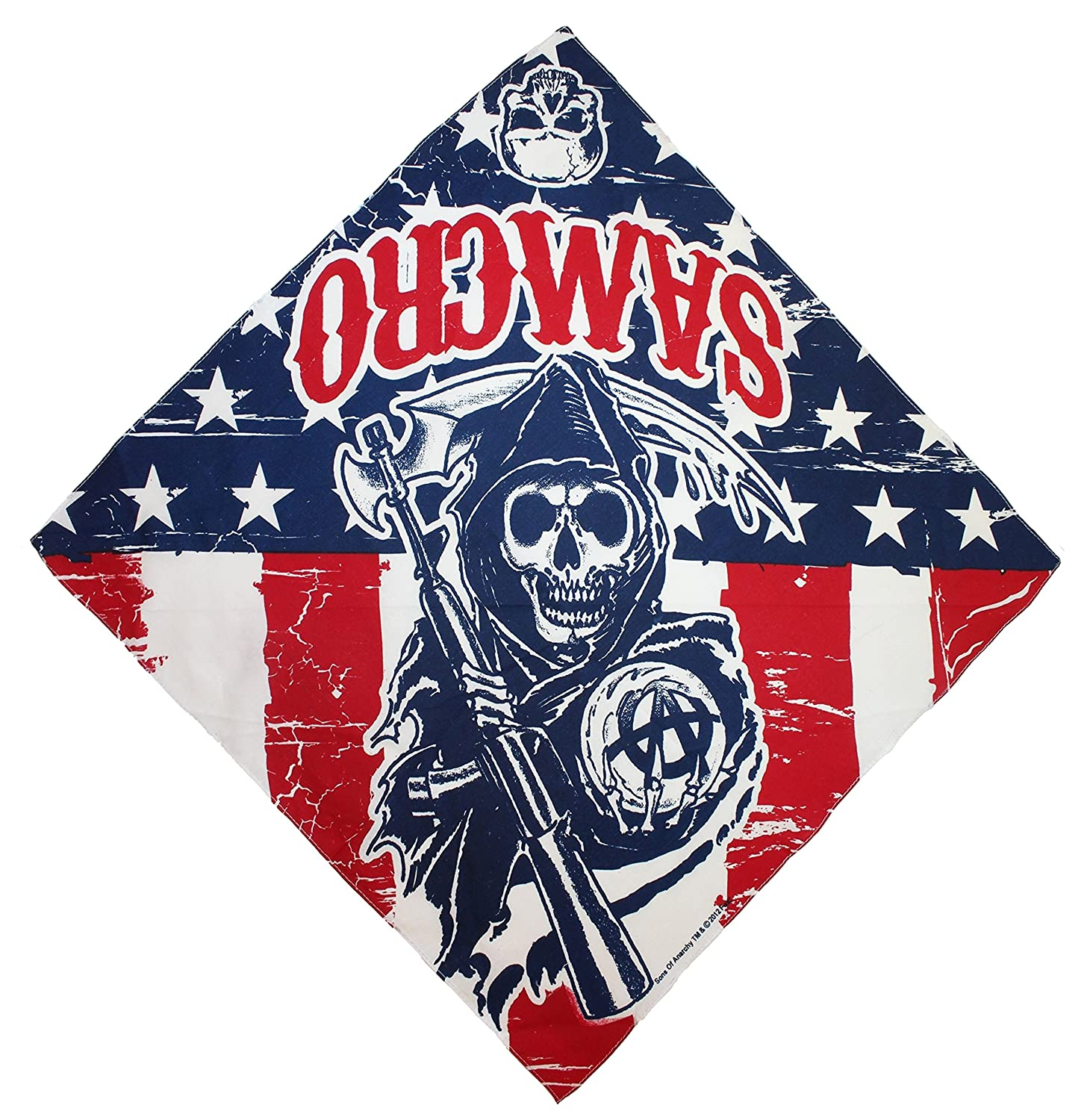 amazon com sons of anarchy bandana standard red blue clothing rh amazon com New Sons of Anarchy Logo Sons of Anarchy Patches