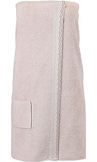 BETZ Toalla Sauna para Mujeres 100% algodón con Velcro Color Beige