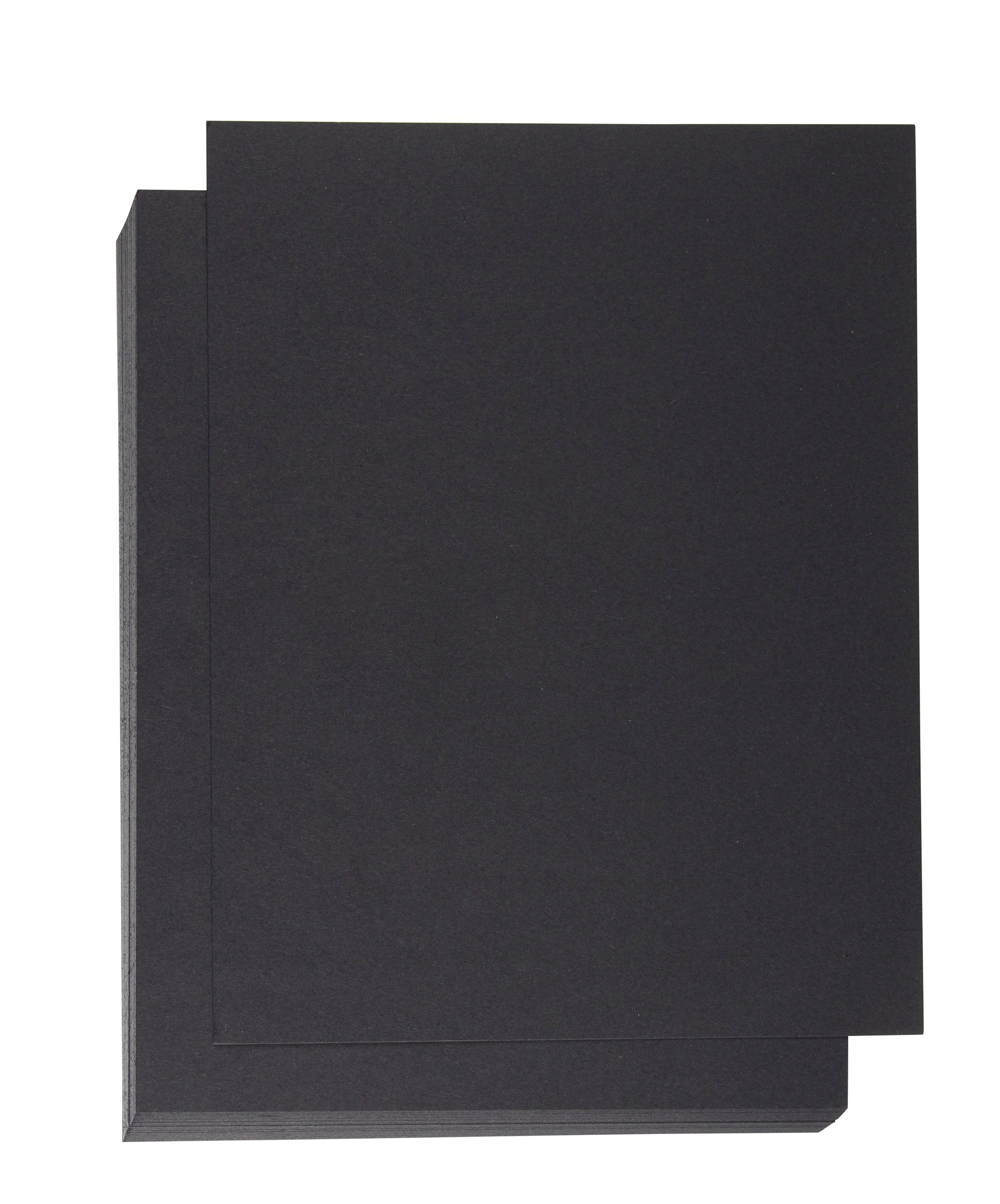 Binding Presentation Cover - 50-Pack Report Cover Paper, Letter Sized Cardstock Paper for Business Documents, School Projects, Un-Punched, 300GSM, Black, 8.5 x 11 inches