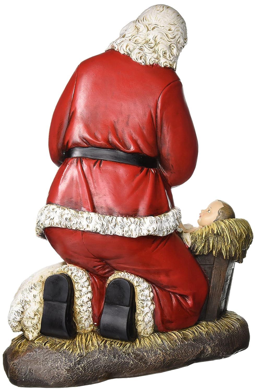Roman Joseph s Studio Slim Profile Kneeling Santa Figurine, 24-Inch