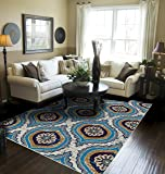 Modern Area Rugs Blue Rugs for Living Room 5x7 Clearance