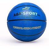 Basketball Ball | ABA Sport | Indoor und Outdoor | NBA Training | Basketbälle für Kidner und Erwachsenen | Größe 5 | Bälle | Farbenauswahl : Rosa Orange Blau