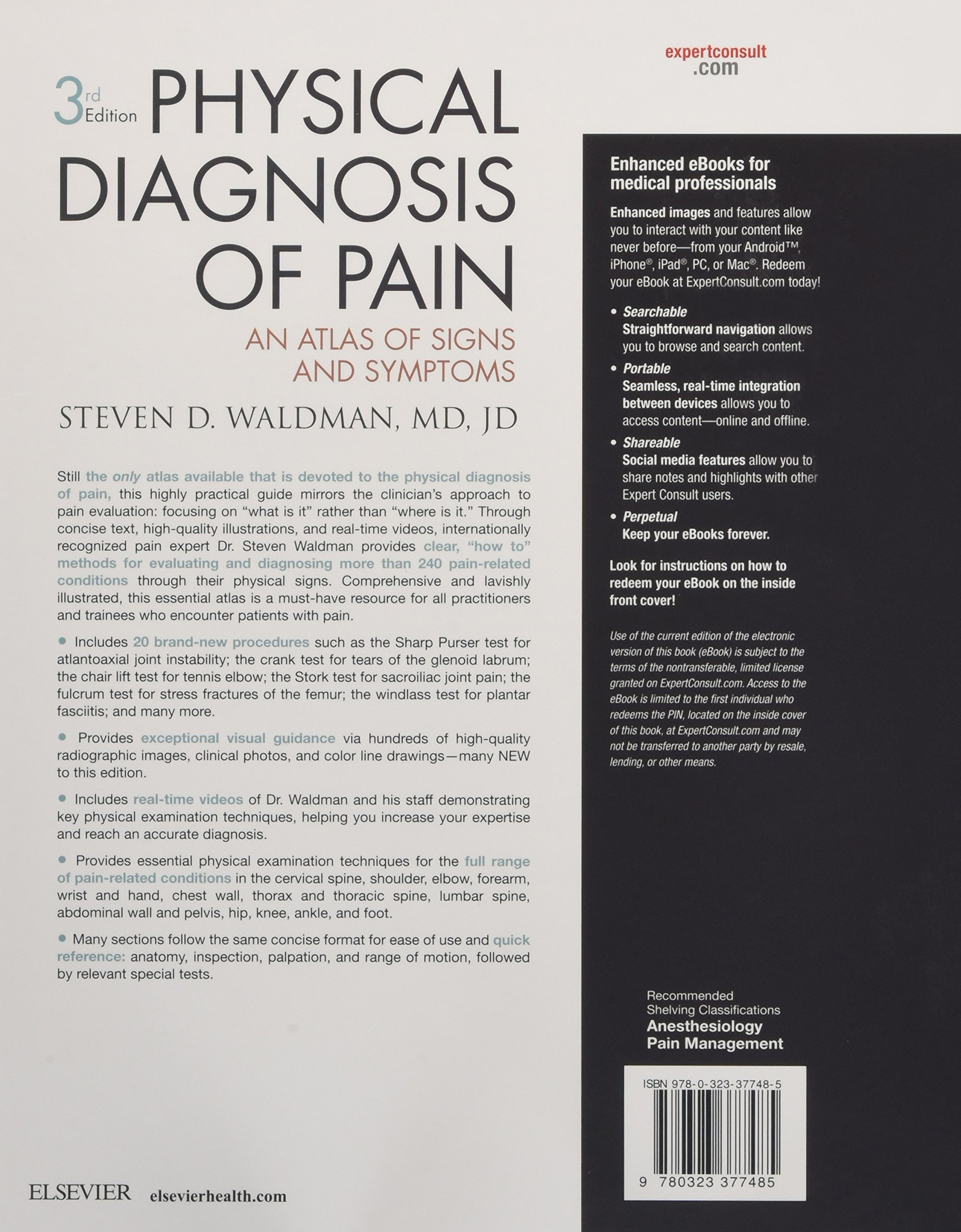 Physical Diagnosis of Pain: An Atlas of Signs and Symptoms, 3e by Elsevier Science Health Science