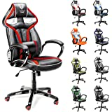 Diablo X-Gamer siège gaming racing chaise de bureau avec accoudoirs, fauteuil de bureau (noir-rouge)