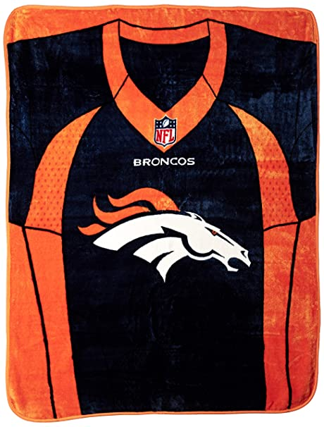 Amazon.com   NFL Denver Broncos Royal Plus Raschel Throw 5fe163a35
