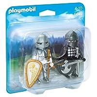 Playmobil - 6847 - Jeu - 2 Chevaliers - Noir/Argent