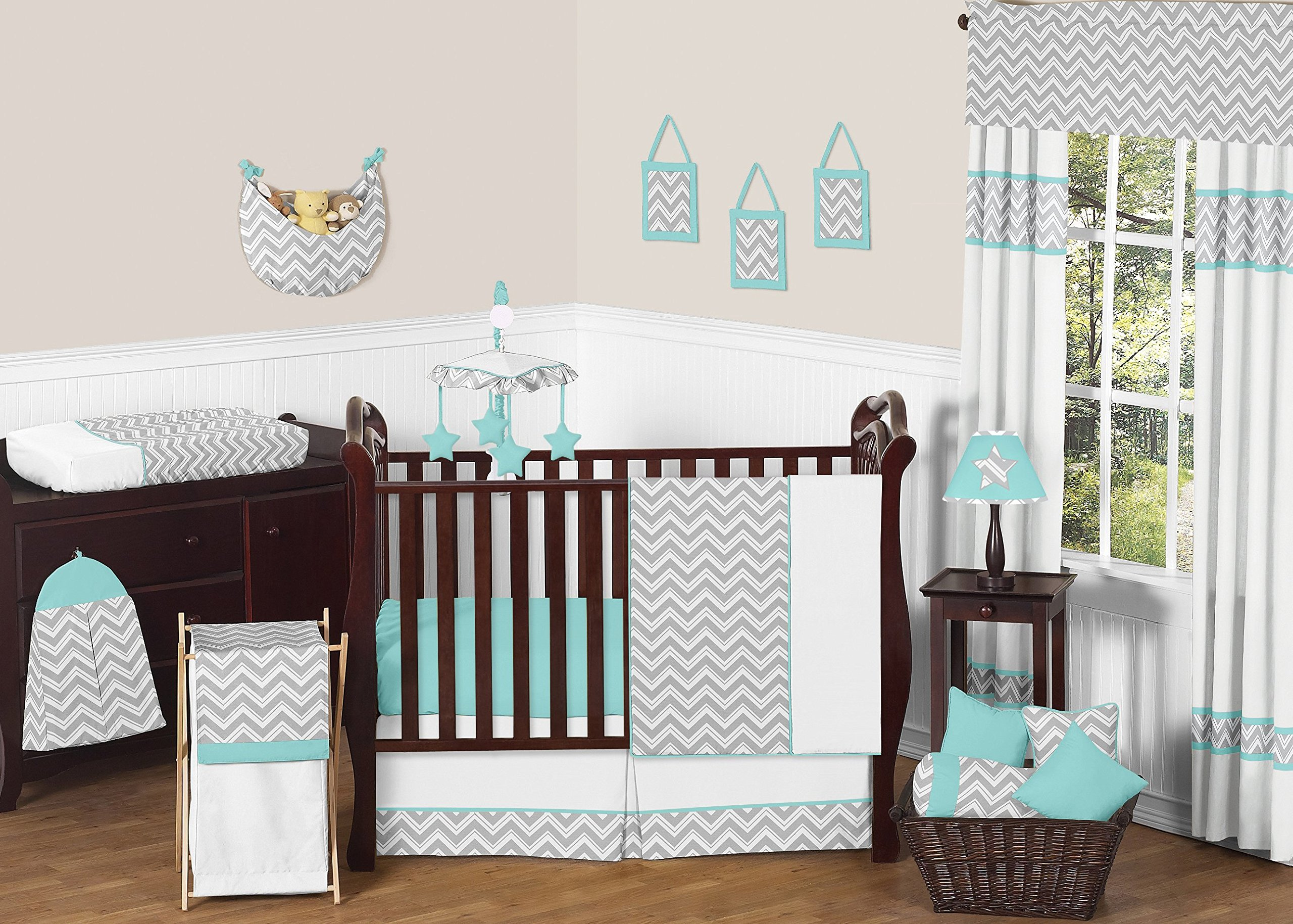 MalAk 3-Piece Crib Bedding Set for Baby Girl Pink Elephants Themed Designs for