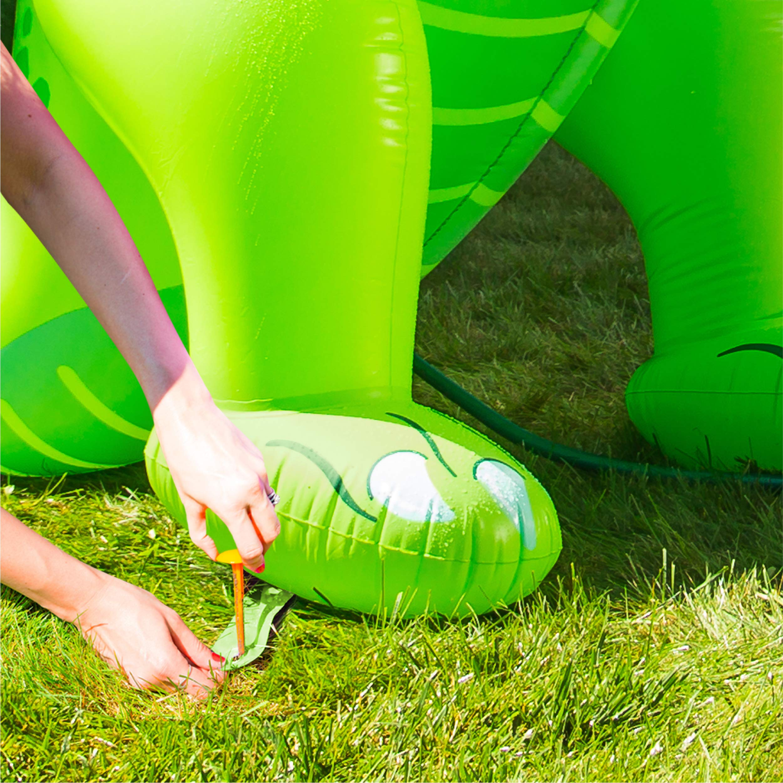BigMouth Inc. Ginormous Inflatable Green Dinosaur Yard Summer Sprinkler, Stands Over 6 Feet Tall, Perfect for Summer Fun by BigMouth Inc (Image #7)