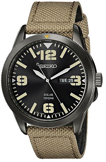 Seiko SNE331 - Reloj para Hombres, Correa de Tela Color Verde: Seiko: Amazon.es: Relojes
