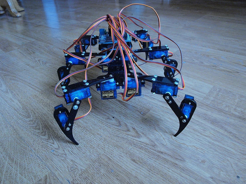 18 Dof Metal De Aluminio Hexapod Robot Araña Seis Pies Pies Marco Robótico Kit De Chasis Para Arduino Control Remoto Modelo Diy