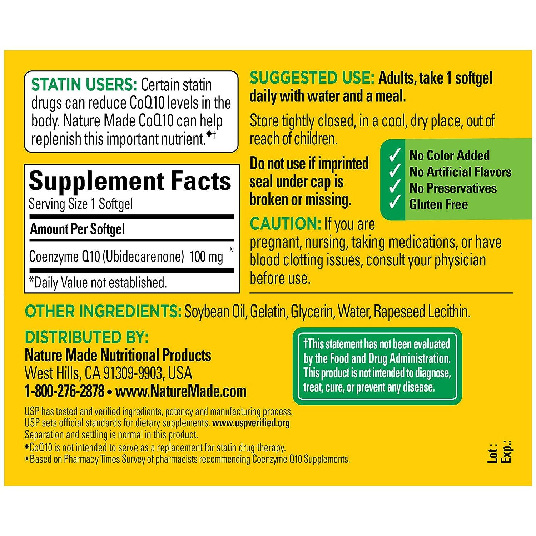 Amazon.com: Nature Made CoQ10, Naturally Orange, 100 mg, 72 ...