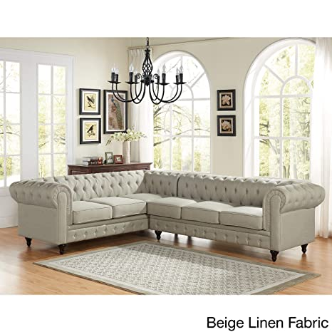 Amazon.com: US Pride Muebles Sophia estilo moderno Tufted ...