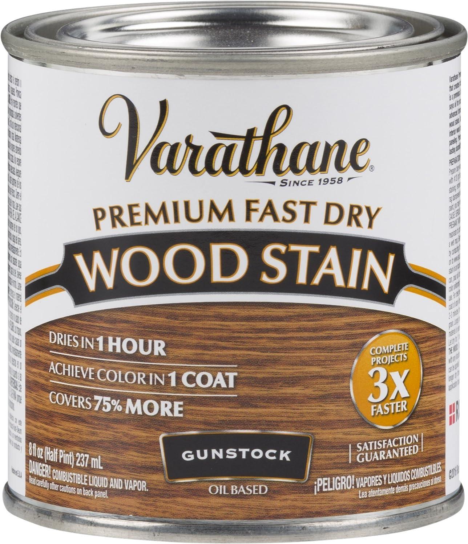 Varathane 262026 Premium Fast Dry Wood Stain, 1/2 Pint, Gunstock