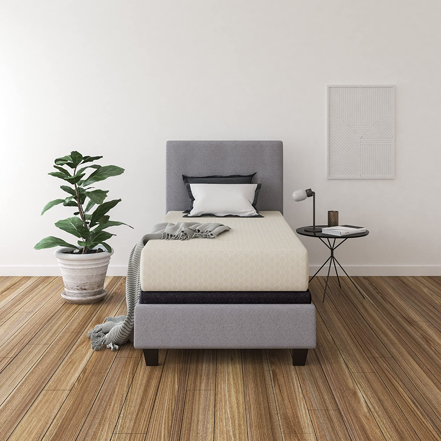 Ashley Furniture Signature Design - 12 Inch Chime Express Memory Foam Mattress - Bed in a Box - Twin - Firm Comfort Level - White