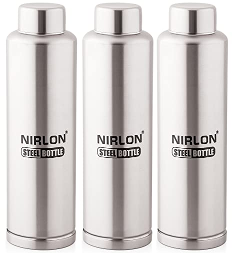 cb24375ff95 Nirlon Stainless Steel Water Bottle Set