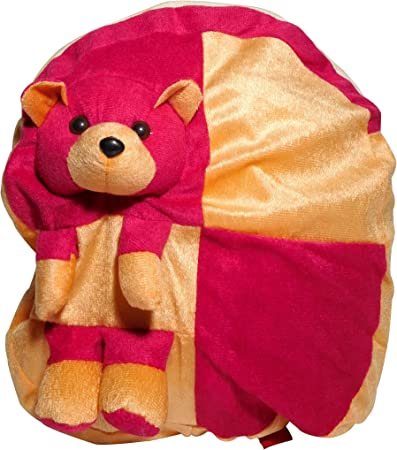 Premium Quality Soft Toy School Bag Dressy Bag Mahroon 35 cm Stuffed Soft Toy Bag