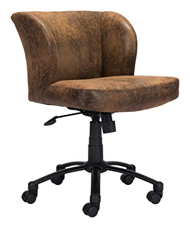 Pleasing Amazon Com Zuo Modern Shaw Office Chair Brown Curved Back Dailytribune Chair Design For Home Dailytribuneorg