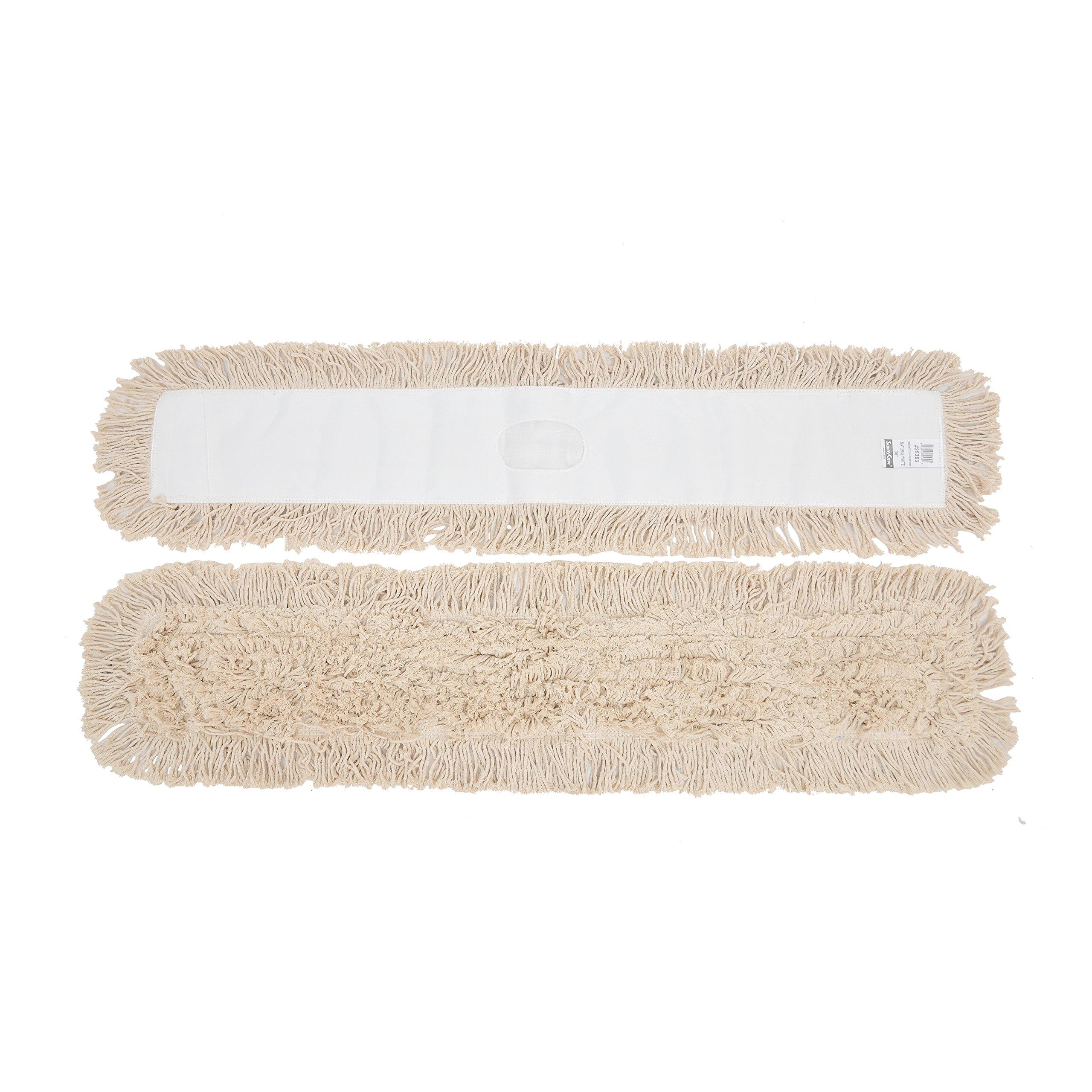 1doz. 48'' x 5'' SunnyCare #25483 Natural Cotton Dust Mop 12pcs/Case