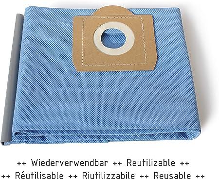 MI:KA:FI Bolsa de filtro reutilizable | para Kärcher Aspiradora en seco y húmedo | WD3 + WD3.200 + WD3.300 M + WD3.500 P + WD5.800 + SE4001 + SE4002 | como 6.959-130.0: Amazon.es: Hogar