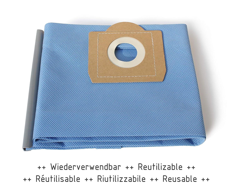 MI:KA:FI Bolsa de filtro reutilizable | para Kärcher Aspiradora en seco y húmedo | WD3 + WD3.200 + WD3.300 M + WD3.500 P + WD5.800 + SE4001 + SE4002 | ...
