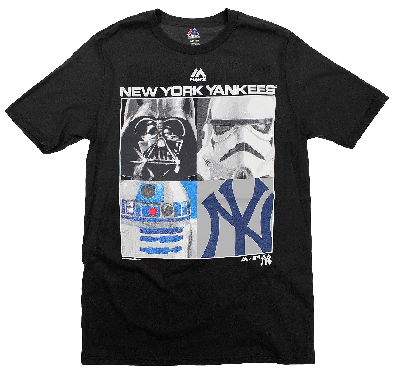 New York Yankees MLB Big Boys Youth Star Wars Main Character T-Shirt, Black Majestic
