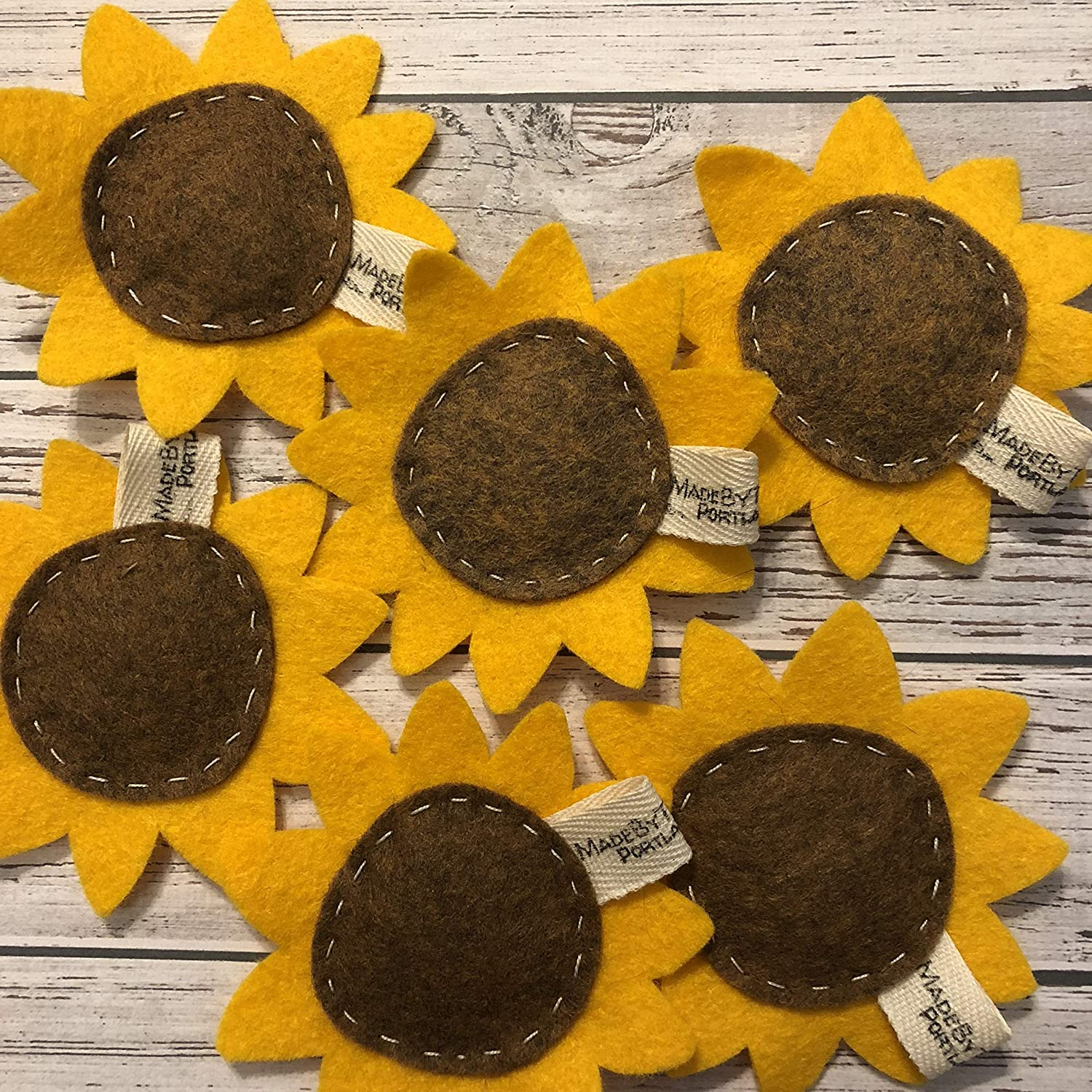 Catnip Cat Toy - Sunflower - Organic Catnip/Wool Felt/Set of 2
