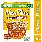 Nestlé NesPlus Breakfast Cereal, Multigrain Flakes – Classic, 500g Carton