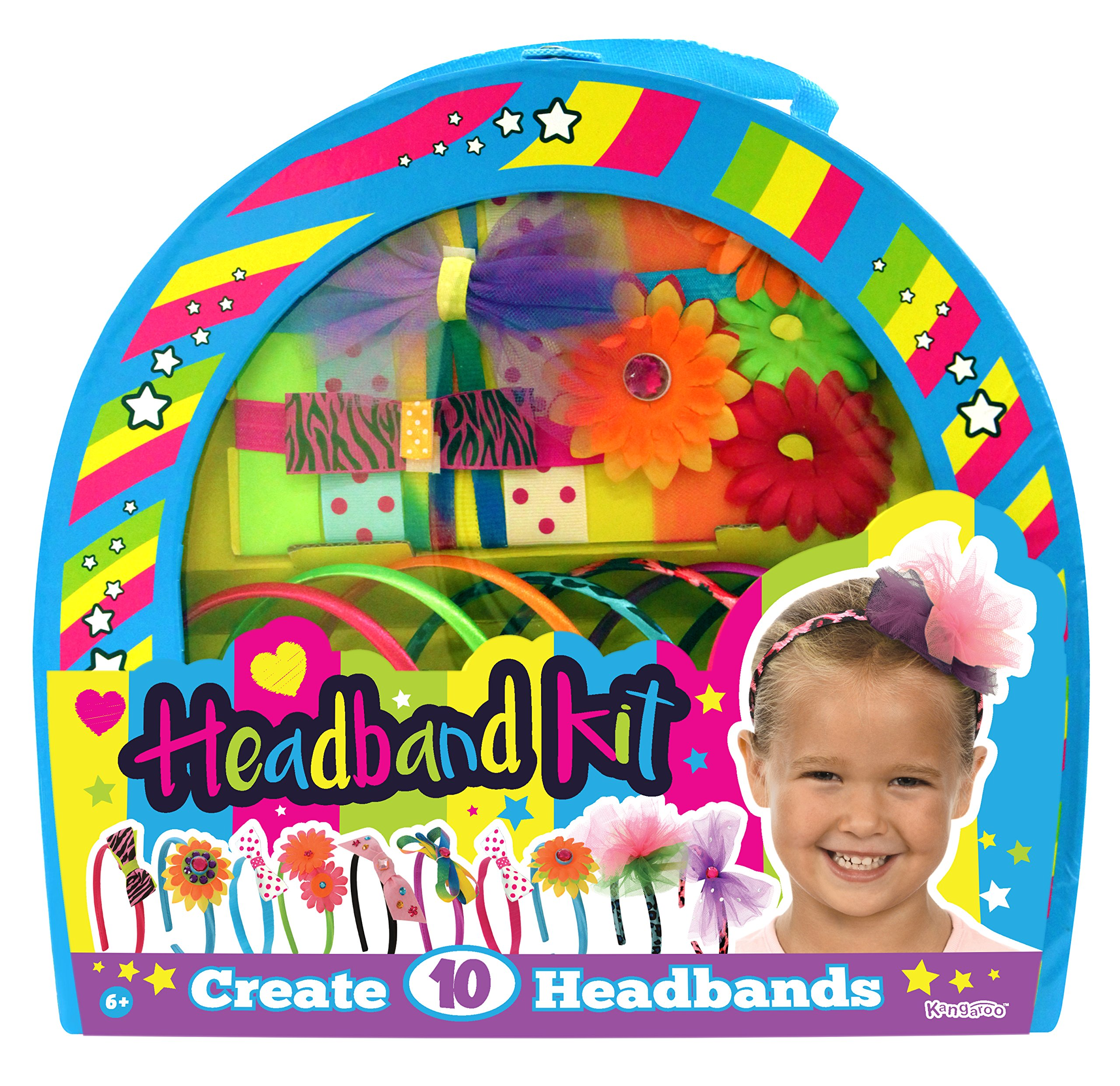 Kangaroo's Girls Toys; Kids Fashion Headbands Kit, 134 Pieces