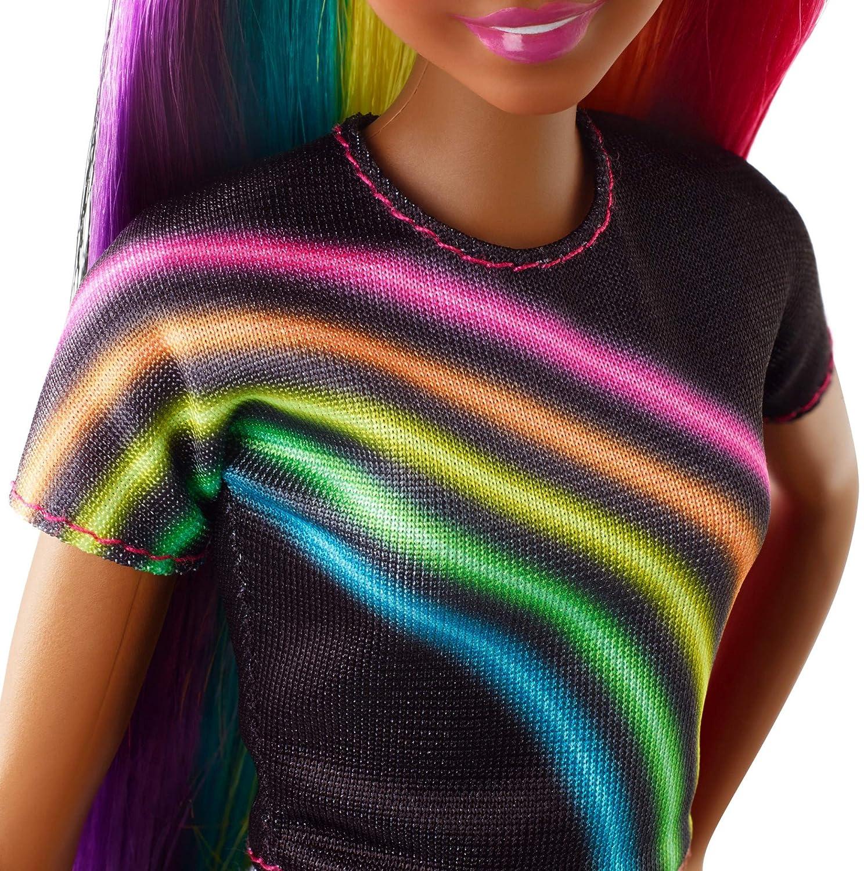 Barbie Rainbow Sparkle Hair Doll Mattel FXN97