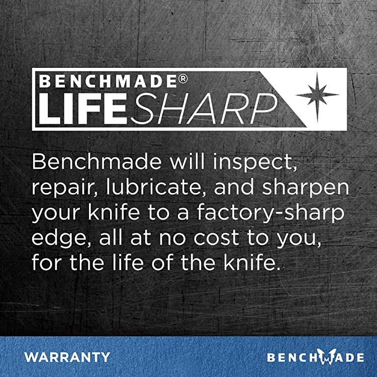 Benchmade's limited Lifetime Warranty and LifeSharp Service keep your knife in the best condition