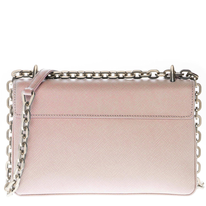 9b3b9c9ffbf Amazon.com  Prada Women s Saffiano Lux Shoulder Bag Nude Pink  Clothing
