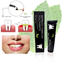 Activated Charcoal Toothpaste For Teeth Whitening with Bamboo Charcoal, Peppermint Extract, Premium Quality Black Toothpaste, 100% Money Back Guarantee, Free Shipping On All Orders