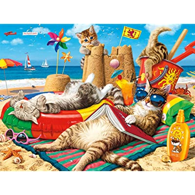 Buffalo Games - Cats Collection - Beachcombers - 750 Piece Jigsaw Puzzle: Toys & Games