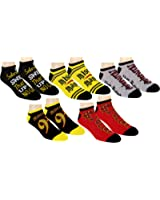 Harry Potter Womens Ankle-No Show Socks 5 Pair Pack