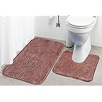 Kridhay Kridhay Natura Life Life Rubber Back Contour Bathmat Set 100% Machine Washable, Anti-Skid and Super Soft Bathmat.